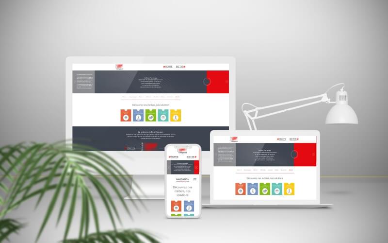 Site Internet responsive avec plateforme d'administration