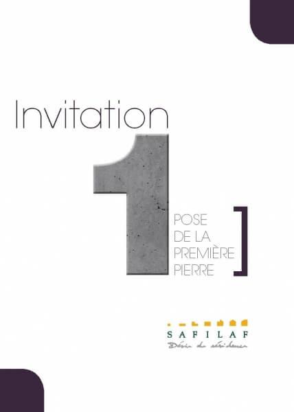 Couverture invitation papier