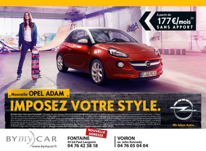Annonce presse Opel BYmy)CAR