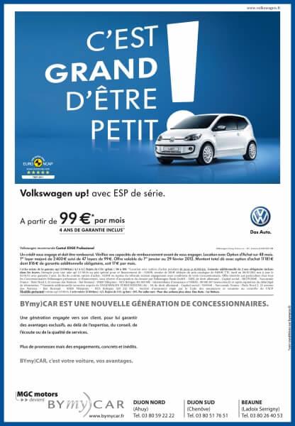 Annonce presse Volkswagen BYmy)CAR